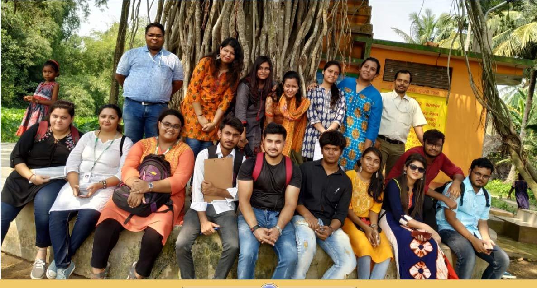 SMC students visit Smart Village Kalarabanka KIIT Mass communication